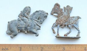 Group Of Antique Tin Miniature Toy Soldier Rider Figurine