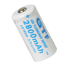 2x 16340 3.7V 2800mAh Li-ion CR123A 123A CR123 Rechargeable Battery Cell