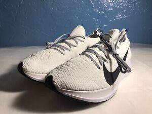 NEW Nike Zoom Fly Flyknit Running Shoes White Black AR4561-101 Men's Size 8.5