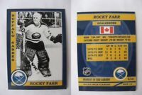 2015 SCA Rocky Farr Buffalo Sabres goalie never issued produced #d/10