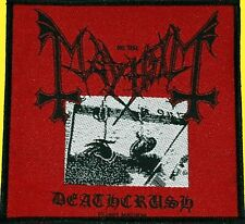 Mayhem Deathcrush Aufnäher Patch Black Metal- NEU & OFFICIAL!