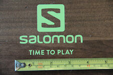 SALOMON Skis Snowboard STICKER Decal DIE CUT Yellow NEW Time To Play