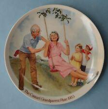 Knowles Americana Collection Csatari Children Grandparent Plate 1983 Swinger Box