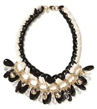 Banana Republic Charm Link Chain Toggle Cream Black Gold Necklacet NWT $69.50
