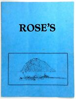 1970's ROSE'S Restaurant Morro Bay Rock California Original Vintage Menu