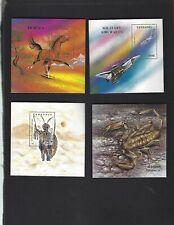 Tanzania sc#1159,1167,1200,1242 (1993-4) Souvenir Sheets MNH