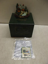"THOMAS KINKADE ""A QUIET EVENING"" LIGHTED COTTAGE COLLECTION MEMORIES OF HOME W/B"