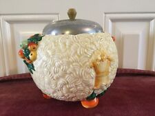 1930s BARBOLA/CLARICE CLIFF CHROME LIDDED POTTERY HARVEST BOWL
