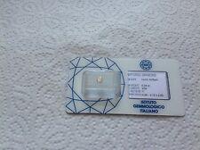 Diamante naturale in taglio rotondo brillante con certificato IGI.