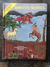 VG! MONSTER MANUAL 1980 5th print 1st Edition Dungeons & Dragons