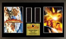 Armageddon GENUINE 2 strip film cell style display 16 x 8 FRAMED