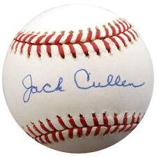 Jack Cullen Autographed Signed AL Baseball New York Yankees Beckett COA F26312