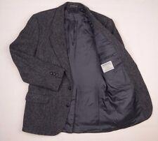 Mens Harris Tweed Jacket Blazer 42 Herringbone Grey Wool Made in Canada Sport