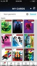 Topps Star Wars Digital Card Trader 10 Card Neon Geometric Insert Set