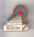 RARE PINS PIN'S .. PTT LA POSTE FRANCE TELECOM CNET ROUGE BLC.BLE LANNION 22 ~BW