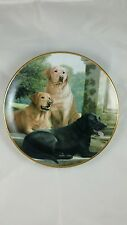 "Franklin Mint #F7690 ""Sporting Companions"" Limited Edition Collector Plate Dogs"
