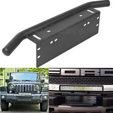 "23"" Car OffRoad Bull Bar Front Bumper License Plate Bracket LED Light Hoider"