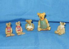 Enesco Centimental Bears Bronze Age Mini Figurines Burt Chocolate Chip Violet +