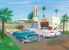 Hi-way a gas, un'edizione limitata fine art print di AUTO AMERICANE ANNI 1950 da R J BOND
