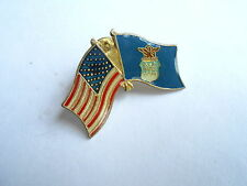 Cool Vintage United States & USAF US Air Force Dual Flags Flag Lapel Pin Pinback