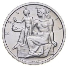 Better Date - 1948 Switzerland 5 Francs - SILVER *768