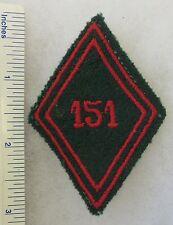 ORIGINAL Vintage FRENCH ARMY 151st REGIMENT DU TRAIN SLEEVE DIAMOND UNIT PATCH