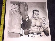Original Art of Muhammad Ali from Dec 1977 Mad Magazine