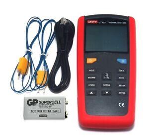 UT325 digital Thermometer Temperaturmessgerät 2x Sonde Temperaturfühler ty K USB