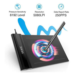 Drawing Tablet VEIKK S640 Graphic Drawing Tablet Ultra-Thin 6x4 Inch Pen Tablet