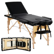 """74"""" Portable Massage Table Chair Tattoo Parlor Spa Salon Facial Bed With Stool"""