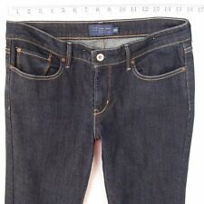 Ladies Womens Levis SLIGHT CURVE STRAIGHT Stretch Blue Jeans W31 L30 UK Size 12