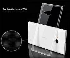 Ultra Thin Soft TPU Gel Silicone Clear Crystal Case Cover Fr Nokia Lumia 730 735