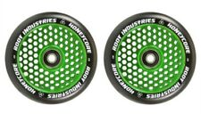 2X ROOT INDUSTRIES HONEYCORE 110mm METAL CORE SCOOTER WHEELS - BLACK/GREEN