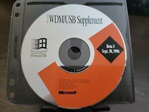 ULTRA RARE: Microsoft Windows 95 WDM/USB Supplement Beta 3 CD (USB History!)