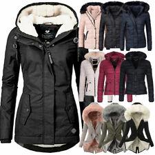 Damen Winter Jacke Steppjacke Parka Mantel Teddyfell Fleecejacke warm gefüttert