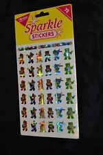Vtg 90's TREND SPARKLE Stickers BANDSTAND BEARS Panda Musical Tuba Horn Sealed