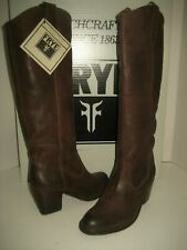 NEW Frye Women US 6 Jackie Button Pull On Brown Knee-High Ridding Leather Boots