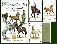 Horses y Ponis Of The World Conjunto De 52 Jugar Tarjetas + Bromistas ( Hpc )
