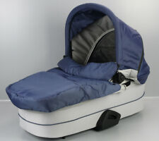 Hauck Baby Wanne f. Kombi Kinderwagen Saturn R oder Mars 0-9kg blau silber M1-HK
