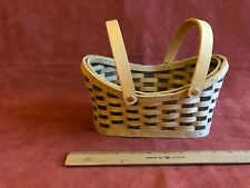 Fine Quality Woven Wicker Basket With Movable Wooden Handles