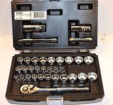 "NEW MAC EXPERT Tools E034832 3/8"" Dr 12 Pt 33 Pc METRIC & INCH SOCKET SET WR17B4"