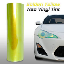 "12""x24"" Chameleon Neo Yellow Headlight Fog Light Taillight Vinyl Tint Film (m)"