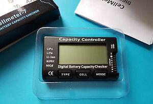LiPo Battery Capacity/Voltage Checker/Tester Meter/LiFe Li-ion NiMH
