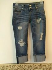 Almost Famous Juniors 3 Cropped And Distressed Jeans