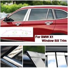 Full Window Middle Pillar Molding Sill Trim Stainless Steel For BMW X1 2016-2018