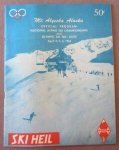 1963 Ski Heil Mt Alyeska AK PROGRAM Natl Alpine Championships + Olympic Tryouts