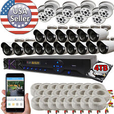 Sikker Standalone 32 Channel DVR 24 pcs 1080P 2MP Camera System 4TB Package kit