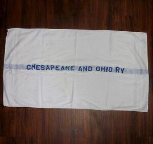 CHESAPEAKE & OHIO RV vtg fingertip hand-towel Cannon Mills railroad