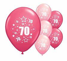 "30 x 70TH Compleanno Rosa Mix 12"" Palloncini Elio O Airfill (PA)"