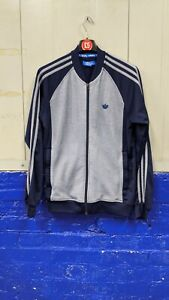 Adidas Men's Blue Zip Up Track Jacket Size Small